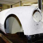 MGA während der Restaurierung, Handwerkskunst an der Karosserie