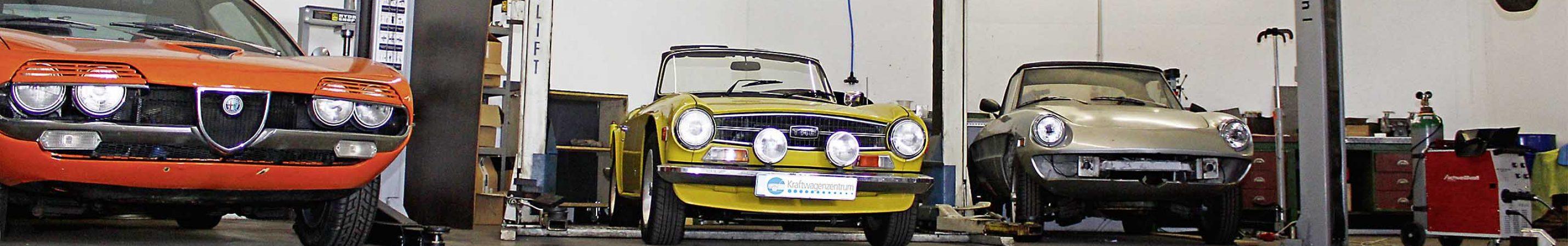 Restaurierung im Kraftwagenzentrum